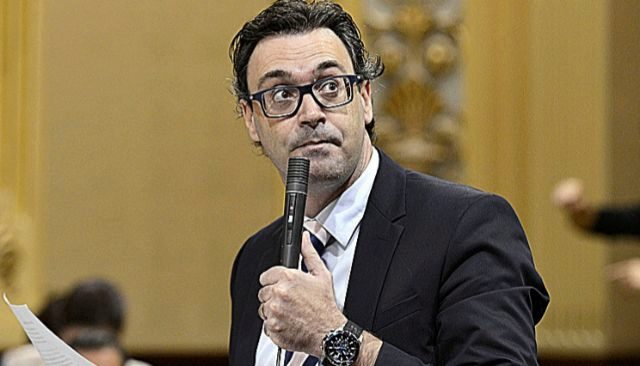 Antoni Costa, portavoz adjunto del PP, ayer en el Parlament. J. SERRA