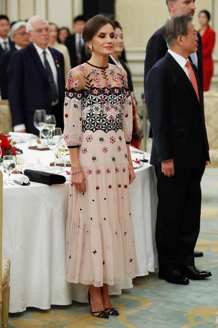 La Reina Letizia en su viaje de Estado a Corea del Sur - Cena de gala en Seúl