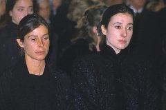 Carmen Martínez-Bordiu, en el entierro de su abuela, Carmen Polo.