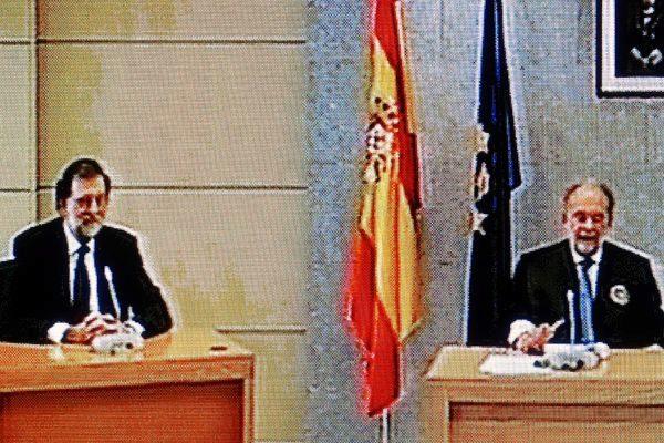 Mariano Rajoy, entonces presidente del Gobierno, declara como testigo...