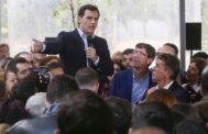 Albert Rivera, junto al vicepresidente de la Junta de Andalucía, Juan Marín, en un acto electoral en Córdoba.