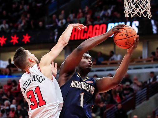 Chicago (United States), 09/10/2019.- New Orleans Pelicans forward...