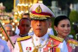<HIT>Thailand</HIT>'s King Maha Vajiralongkorn, Queen Suthida, Princess Bajrakitiyabha and Princess Sirivannavari Nariratan leave after they attend an event commemorating the death of King Chulalongkorn in Bangkok