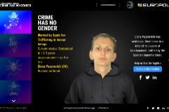 <HIT>EUROPOL</HIT>. FOTOGRAMA 4. Elena Puzyrevich. CRIME HAS NO GENDER Wanted by Spain for: Trafficking in human beings