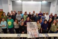 Los líderes de ELA y LAB junto a otros representantes de la Carta Social.