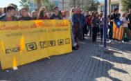 Concentración, este jueves, en la universidad pública de Castellón.
