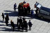 Traslado de los restos de Franco tras ser exhumados del Valle de los Caídos.
