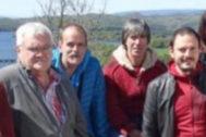 López de Bergara, primero por la izquierda, en una foto la candidatura de EH Bildu en las pasadas elecciones.