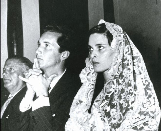 Lucía Bosé, en su boda con Luis Miguel Dominguín.