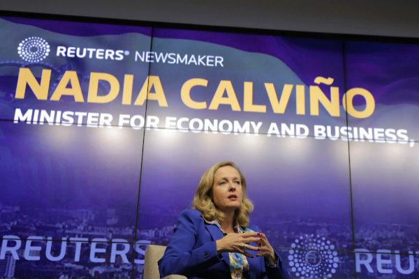 La ministra de Economía, Nadia Calviño, en un evento reciente en Nueva York.