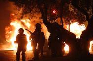 Imagen de los disturbios de la semana pasada en Barcelona.