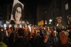 <HIT>Javi</HIT> <HIT>Martinez</HIT>. 25/10/2019. Barcelona. Manifestacion en la Plaza de Sant Jaume Barcelona para protestar por la sentencia a los condenados del proces por el Tribunal Supremo
