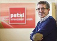 Patxi López en la sede del PSE en Bilbao.