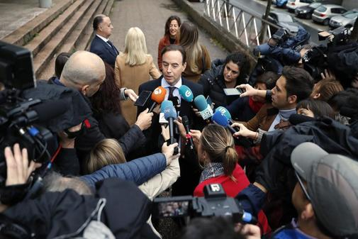 El abogado de la familia Quer, Javier Pérez Lama, responde a la...
