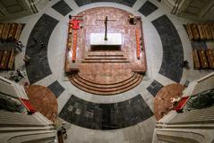 Vista aérea del altar, ya sin la tumba de Franco.