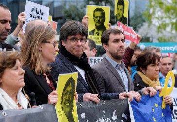El ex presidente catalán Carles Puigdemont, en una protesta independentista, el pasado 15 de octubre, en Bruselas.