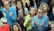 El presidente catalán Torra y Artur Mas, en una manifestación independentista.