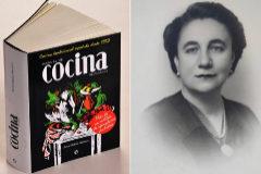 El manual, de casi 1.000 páginas, de Ana María Herrera y un retrato de la autora.