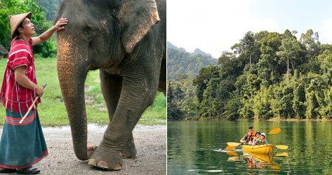 Elephant Hills, campamento de paquidermos en la selva.