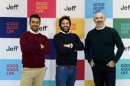 De izquierda a derecha: Diego Moya, director ejecutivo y fundador de Entrenarme, Eloi Gómez, CEO y cofundador de Jeff, y Kiko Medina, director y fundador de Oh my Cut!