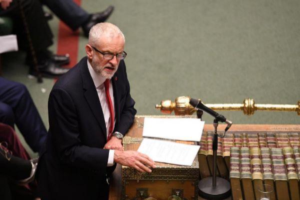 Jeremy Corbyn, ayer en la Cámara de los Comunes.