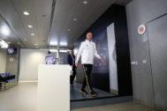 Zinedine Zidane, tras finalizar su rueda de prensa previa al Leganés.