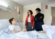 Díaz Ayuso visita a Gonzalo Caballero en el hospital