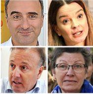En el sentido de las agujas del reloj: Pere Joan Pons; Marga Prohens; Antònia Jover; Joan Mesquida.