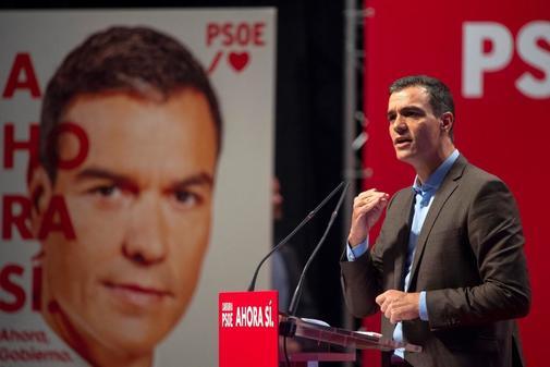 El presidente del Gobierno en funciones, Pedro Sánchez, en un acto...