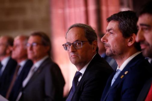 El presidente de la Generalitat, Quim Torra, en un acto celebrado este...