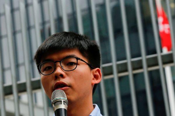 Pro-democracy activist <HIT>Joshua</HIT> <HIT>Wong</HIT> speaks to...