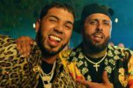 Anuel AA y Nicky Jam en el vídeo de Whine Up, su nuevo single
