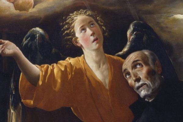 Parte del cuadro La visión de San Alonso Rodríguez