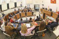 Un momento en el pleno de la Diputación de Alicante.