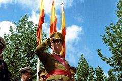 Francisco Franco, en un fotograma de 'Generalísimo'.