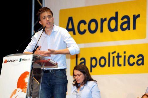 Íñigo Errejón y Mónica Oltra durante la presentación de la candidatura de Més Compromís en Alicante.
