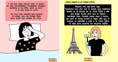 Algunas de las ilustraciones diseñadas por @soycardo.