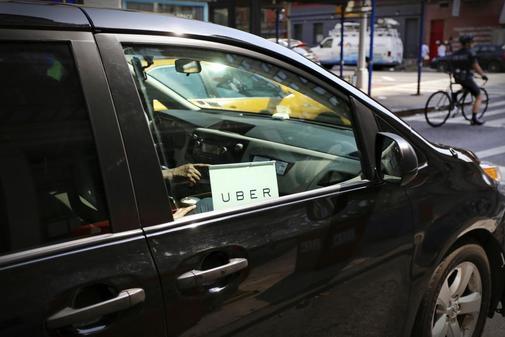 Un vehículo Uber en Nueva York.