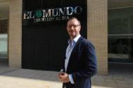 Javier Maroto en la sede de El Mundo Castellón al día, este miércoles.