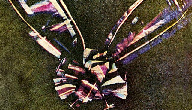 Imagen que se conoce como 'Tartan Ribbon' (cinta de tela escocesa)  y está considerada como la primera fotografía de color permanente. Se realizó a partir de tres fotografías sucesivas cada vez con la lente tras un filtro diferente: rojo, verde y azul.