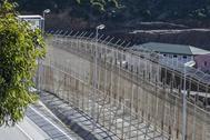 La valla que separa España de Marruecos en Ceuta.