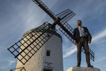 El líder de Vox, Santiago Abascal, el martes en Consuegra (Toledo).