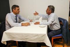 Miguel Ángel Revilla y Pedro Sánchez, compartiendo mantel.