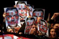 Protesta contra la visita de Sánchez a Cataluña el pasado miércoles.