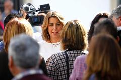 La secretaria general del PSOE-A, Susana Díaz, este miércoles en Villaviciosa de Córdoba.