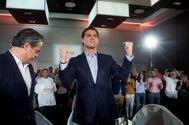 El candidato de Ciudadanos a la Presidencia del Gobierno, Albert Rivera, en un acto, este viernes, en Málaga.