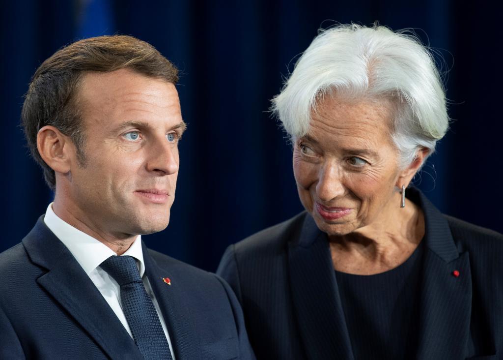 Resultado de imagen de Christine Lagarde y Emmanuel Macron