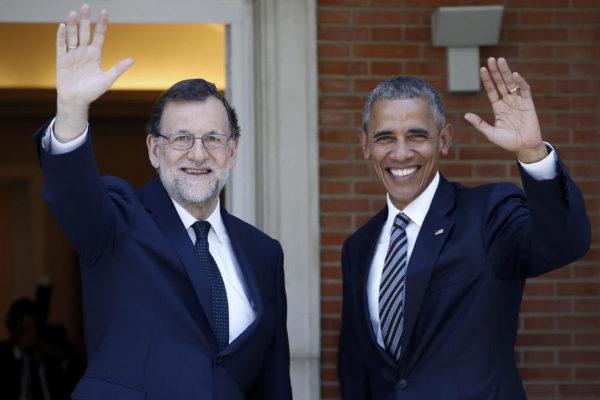 El ex presidente del Gobierno Mariano Rajoy con el ex presidente...
