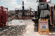 Explotación de 'fracking' en Texas.