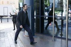 Miguel López, esta semana, a su llegada a la sede judicial.